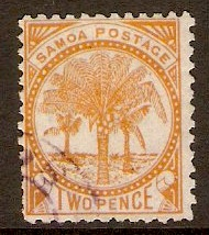 Samoa 1886 2d Dull orange. SG43