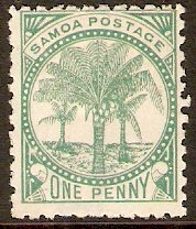 Samoa 1899 ½d Dull blue-green. SG88. - Click Image to Close