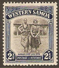 Samoa 1935 2½d Black and blue. SG183.