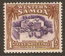Samoa 1935 1s Violet and brown. SG186.