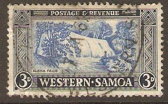 Samoa 1952 3d Pale ultramarine and indigo. SG221.