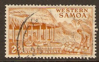 Samoa 1952 2s Yellow-brown. SG227.