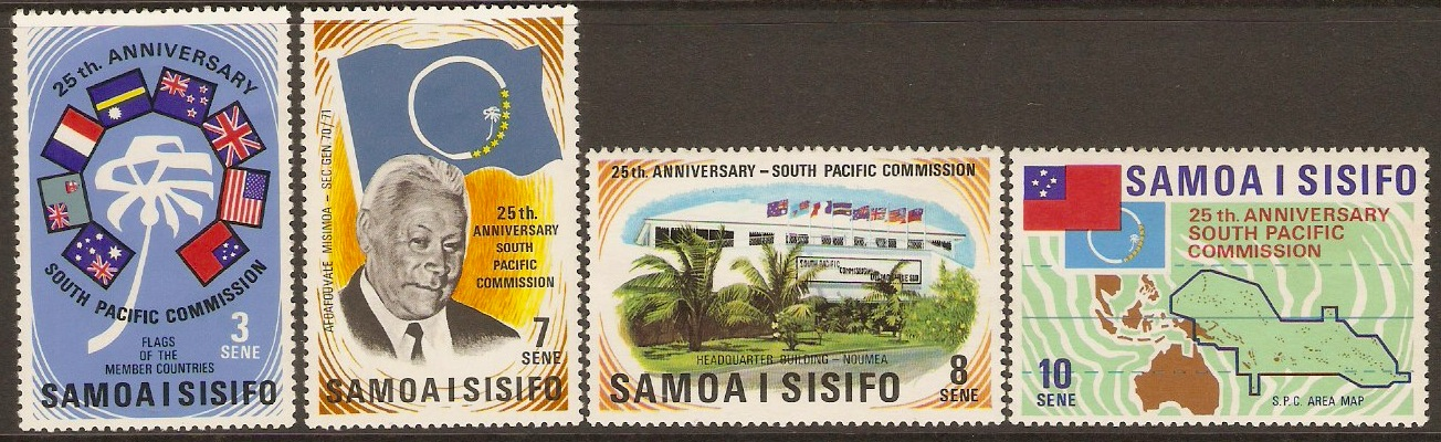 Samoa 1972 Commission Anniversary Stamps Set. SG382-SG385. - Click Image to Close