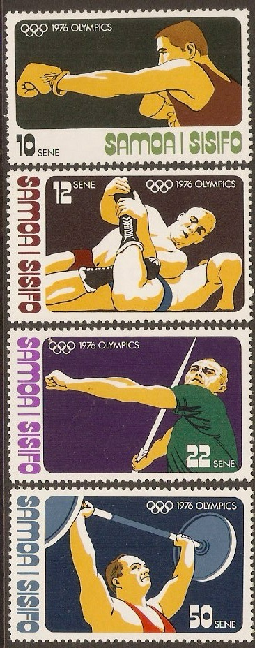 Samoa 1976 Olympic Games Stamps Set. SG470-SG473.