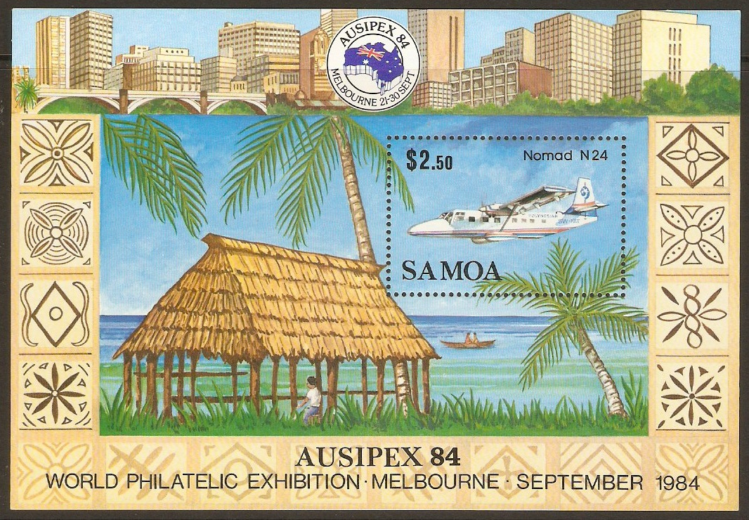 Samoa 1984 Stamp Exhibition Stamps Sheet. SGMS683.