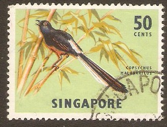 Singapore 1962 50c Orchids, Fish and Bird Series. SG74.