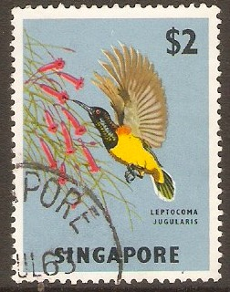 Singapore 1962 $2 Orchids, Fish and Bird Series. SG76.