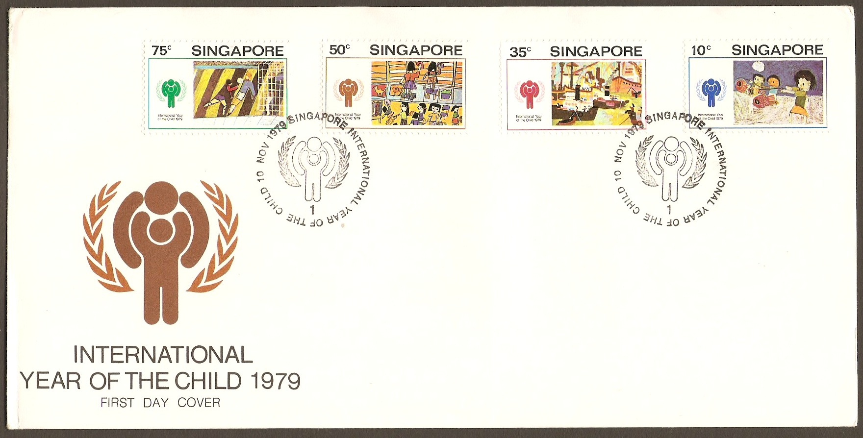 Singapore 1979 Year of the Child FDC.