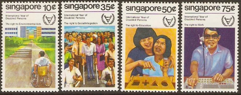 Singapore 1981 Disabled Year Set. SG407-SG410.