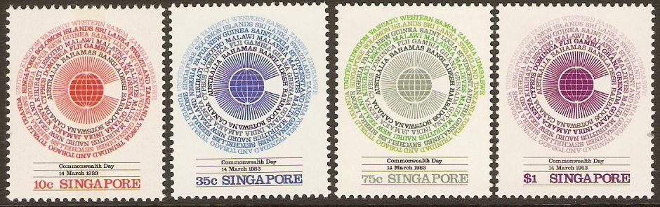 Singapore 1983 Commonwealth Day Set. SG443-SG446.