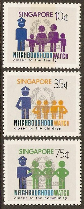 Singapore 1983 Neighbourhood Watch Set. SG451-SG453.