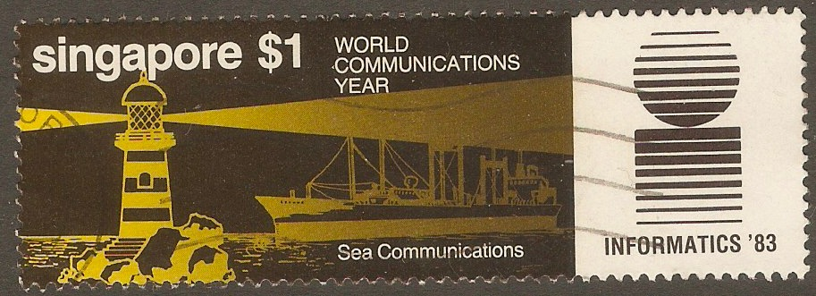 Singapore 1983 $1 World Communication Year series. SG466.