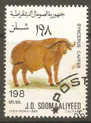 Somalia 1989 198s Animals series - African buffalo. SG777.