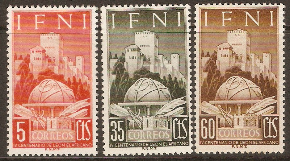 Ifni 1952 Leo Africanus Commemoration set. SG84-SG86.