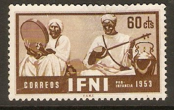 Ifni 1953 60c Brown - Musicians series. SG96.