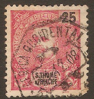 St.Thomas and Prince 1903 25r Carmine. SG1903.