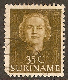 Surinam 1951 35c Olive-brown. SG401.