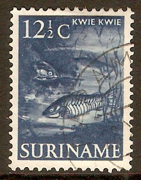 Surinam 1953 12½c Deep blue. SG413.