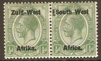 South West Africa 1923 ½d Green. SG1.