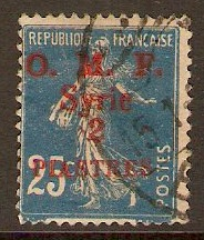 French Military Occ. 1920 2p on 25c Blue. SG37.