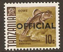 Tanzania 1967 10c Fish Series - Official Stamp. SGO21