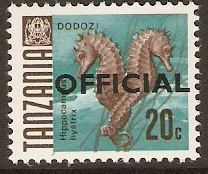 Tanzania 1967 20c Fish Series - Official Stamp. SGO23