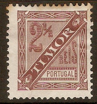 Timor 1893 2½r Brown - Newspaper stamp. SGN36.