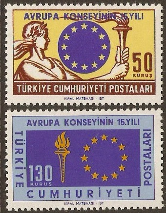 Turkey 1964 Council of Europe Stamps. SG2051-SG2052.