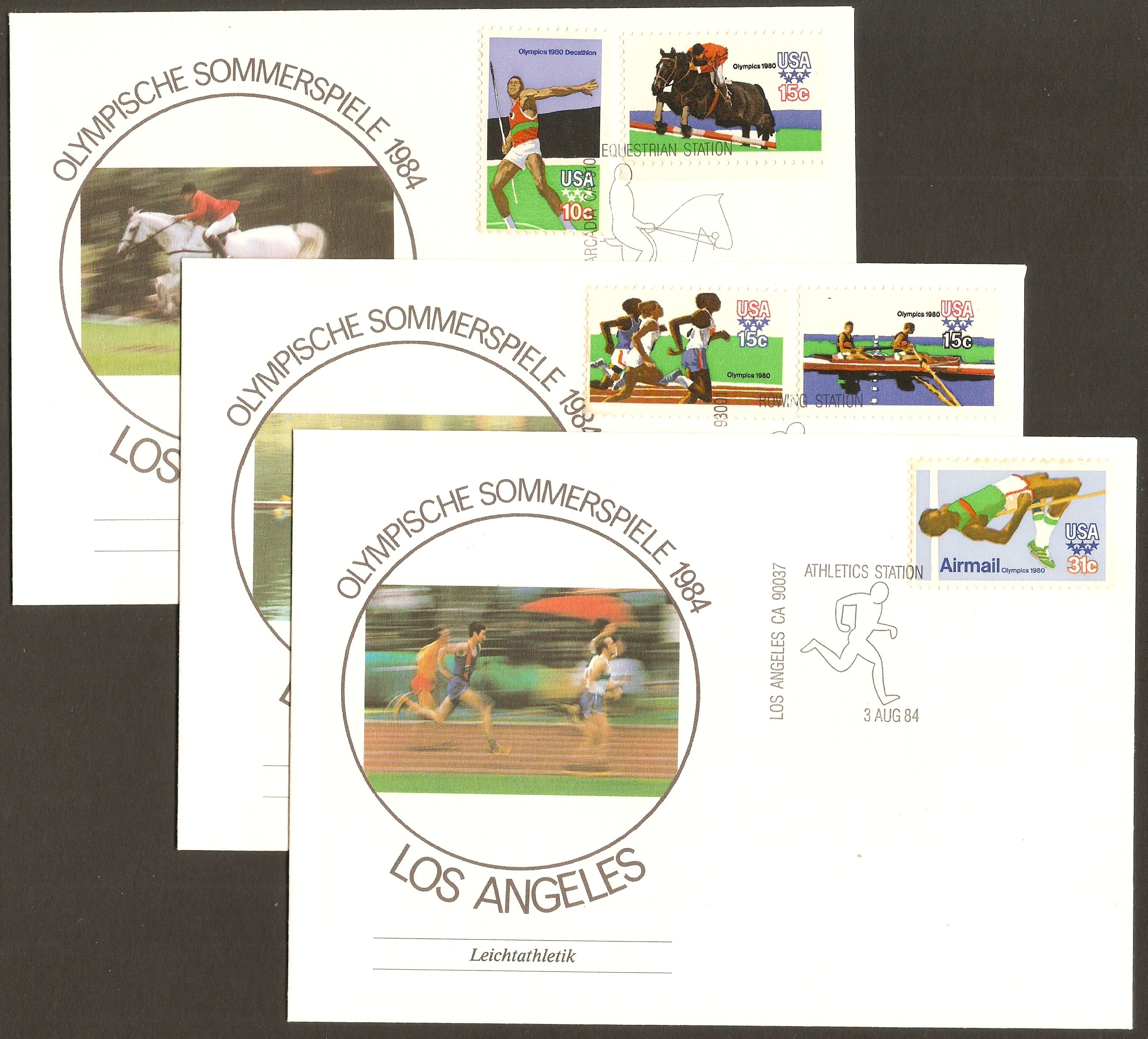 United States 1979 Moscow Olympics Souvenir Covers.