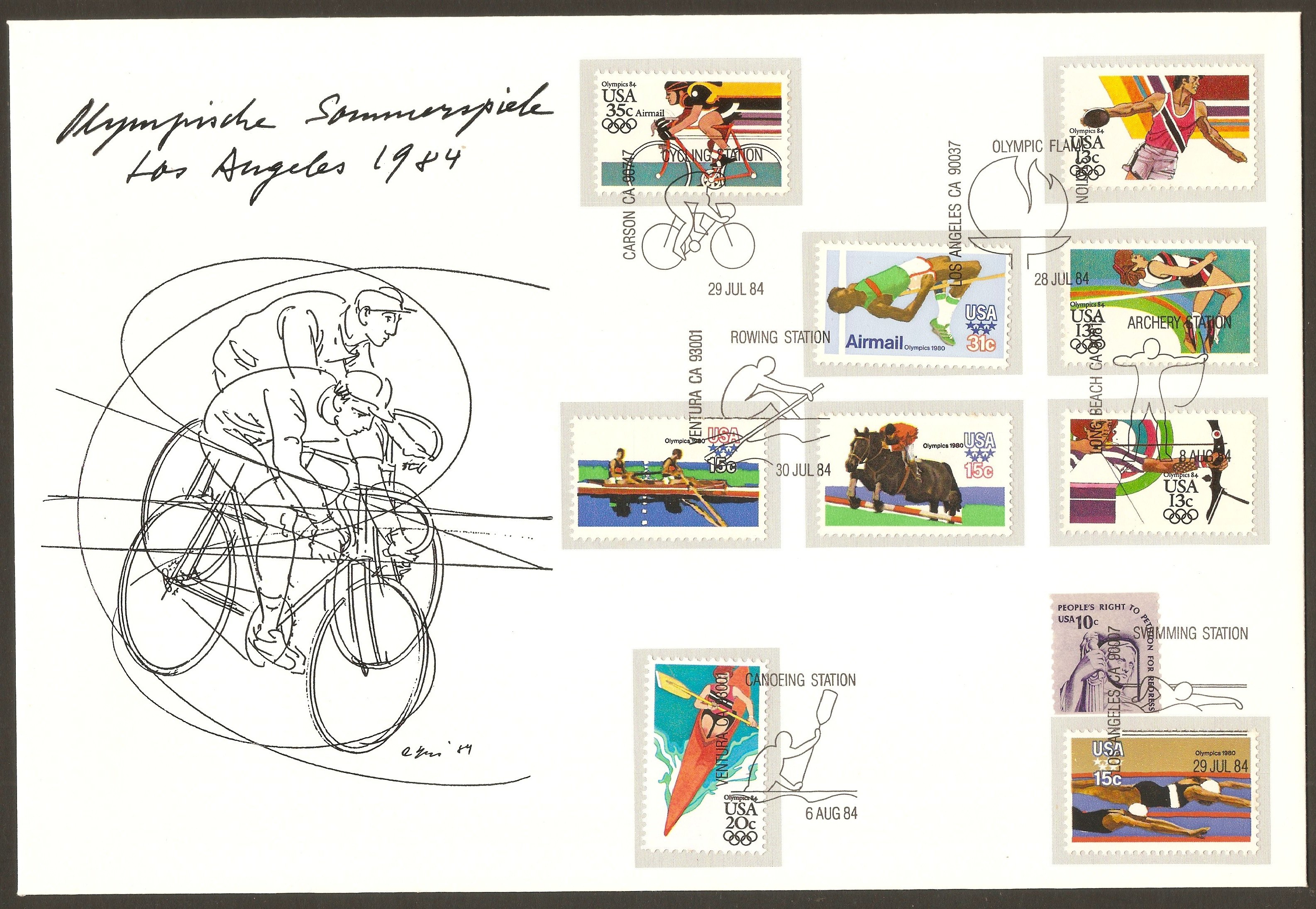 United States 1979 Moscow Olympics Souvenir Cover.