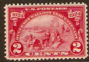 United States 1924 2c Huguenot-Walloon Anniversary series. SG619