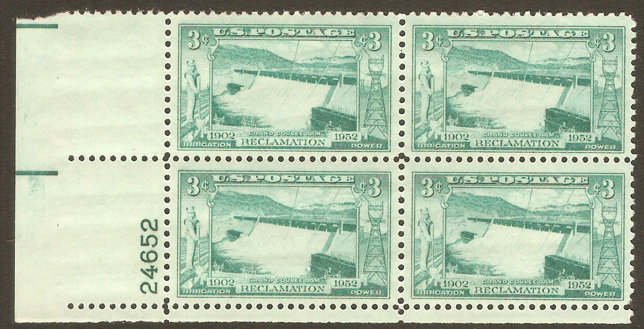 United States 1952 3c Columbia Basin Reclamation. SG1006.
