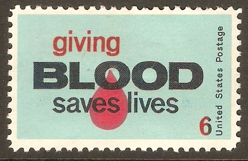 United States 1971 6c Blood Donors Stamp. SG1421.