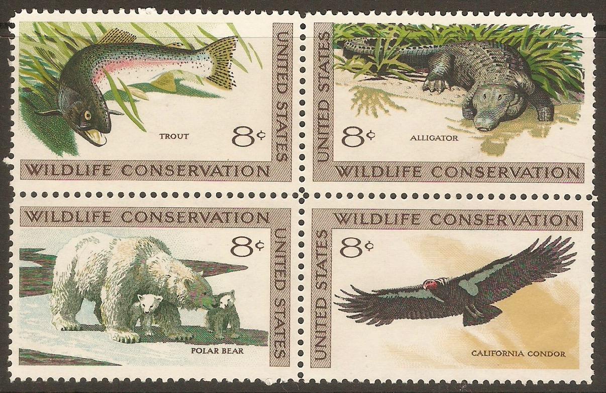United States 1971 Wildlife Conservation Set. SG1428a.