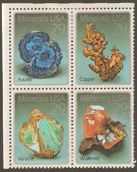 United States 1992 Minerals Stamps Set. SG2744a.