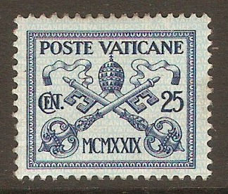 Vatican City 1929 25c Blue on azure. SG4.
