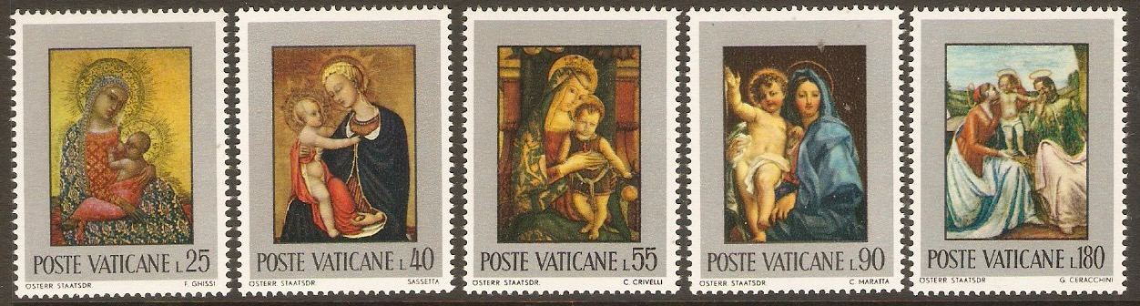 Vatican City 1971 Easter Paintings set. SG556-SG560.