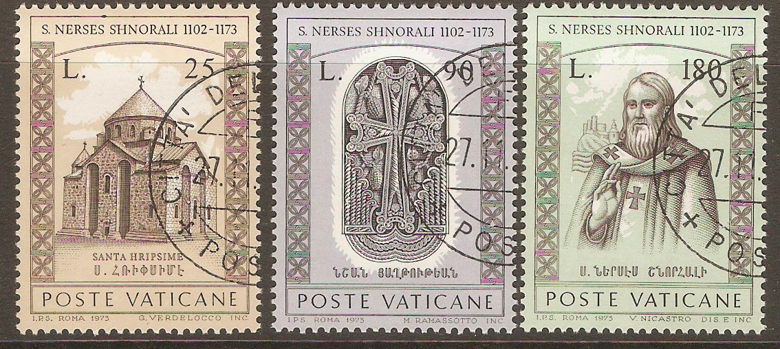 Vatican City 1973 St. Narsete Shnorali set. SG605-SG606.