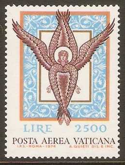 Vatican City 1974 2500l Air stamp. SG608.