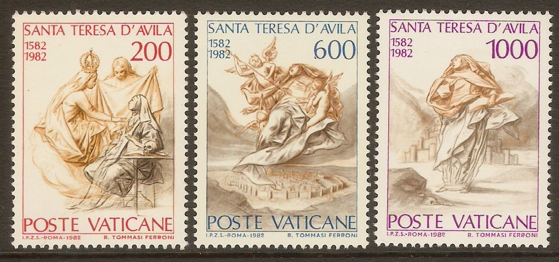 Vatican City 1982 St. Theresa Commemoration set. SG784-SG786.