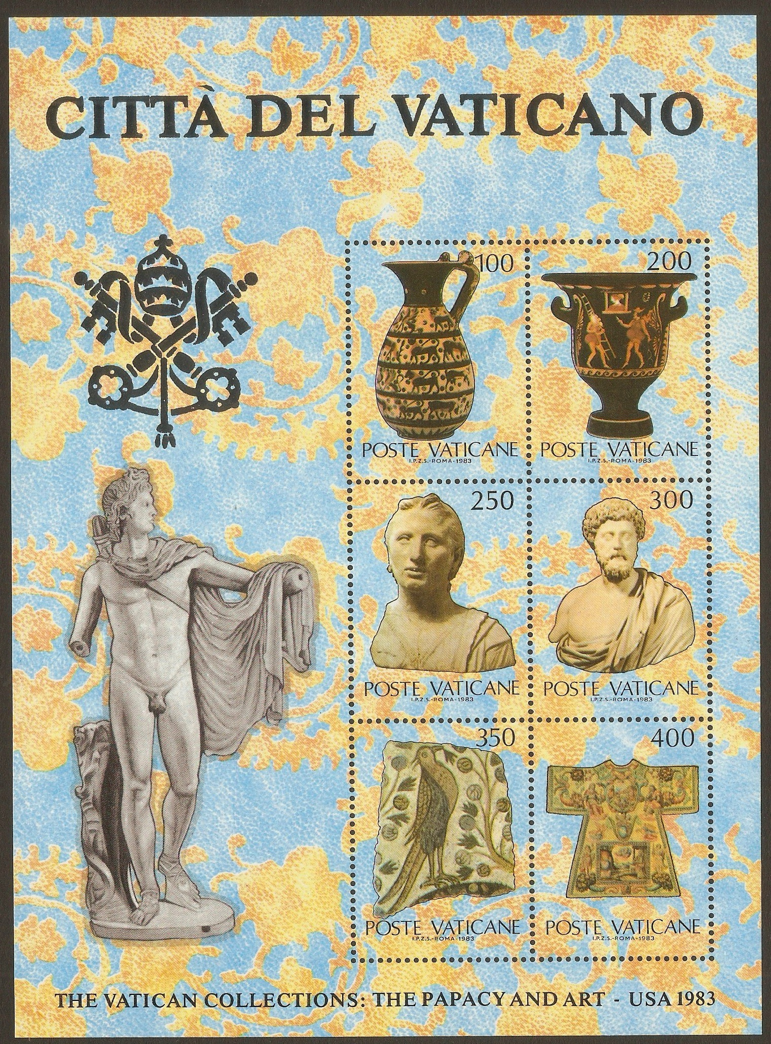 Vatican City 1983 Vatican Collections sheet (1st. Issue). SGMS79