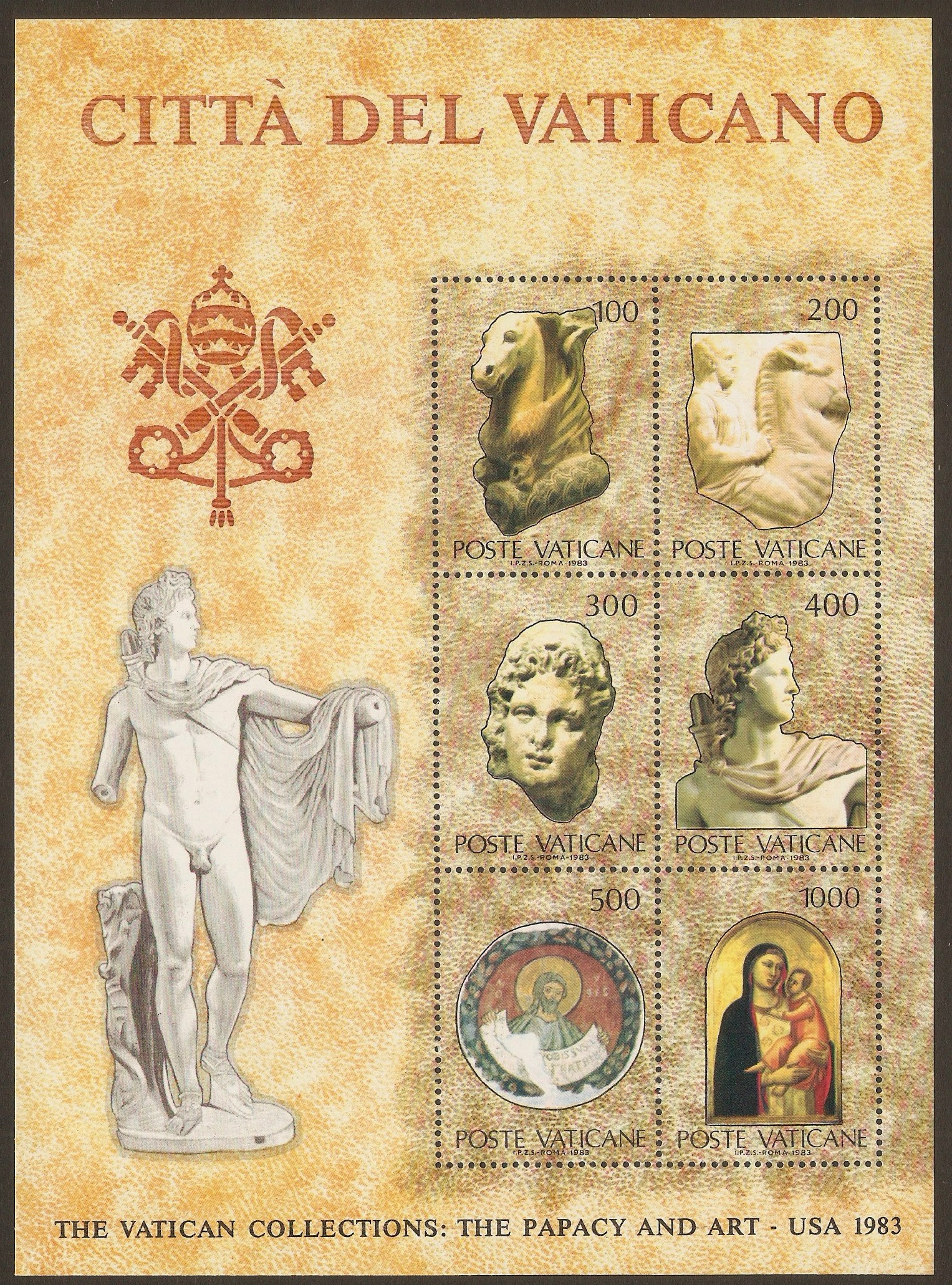 Vatican City 1983 Vatican Collections sheet (2nd. Issue). SGMS80
