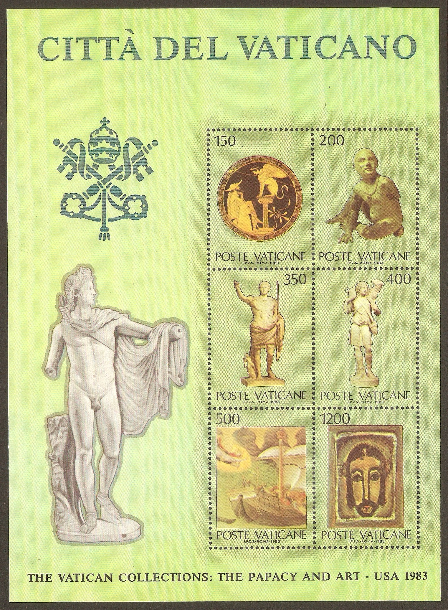 Vatican City 1983 Vatican Collections sheet (3rd. Iss). SGMS803.