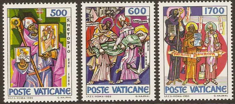 Vatican City 1985 St. Methodius Commemoration Set. SG832-SG834.