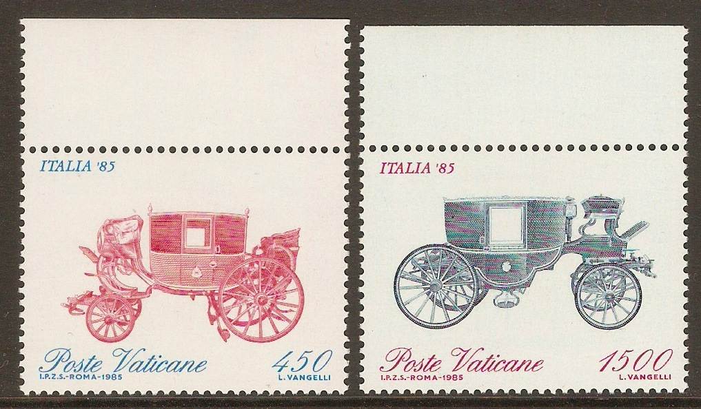 Vatican City 1985 Italia '85 set. SG843-SG844.