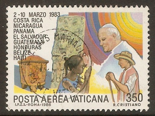 Vatican City 1986 350l Papal Visits series. SG862.