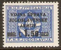 Yugoslavia Incorporation 1947 1l.50 on 0.50d Blue. SG103.