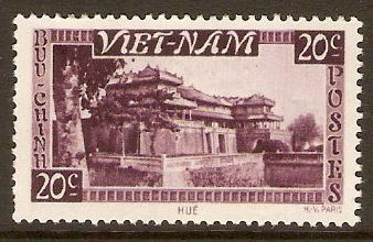Vietnam 1951 20c Purple. SG62.
