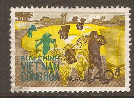 South Vietnam 1971 40p Rice Harvest series. SGS389.