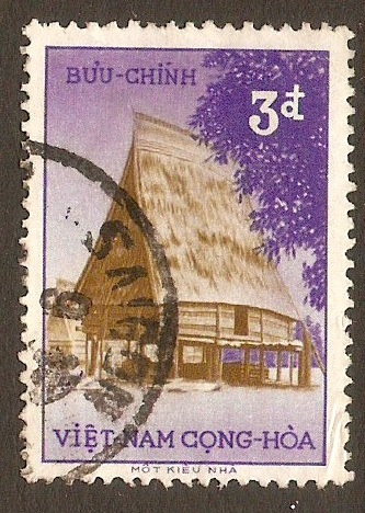 South Vietnam 1957 3p Brown and violet. SGS42.